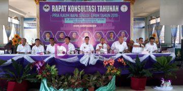 Konsultasi Pria Kaum Bapa GMIM tahun 2019, di Jemaat Maranatha Bitung Wilayah Amurang Satu, Sabtu (14/9/2019).(dodokugmim/joshuanugraha)