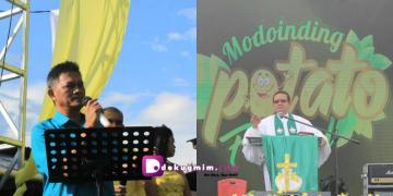 Pdt. Wailan Posumah,M.Th adalah pencetus ide Modoinding Potato Festival (MPF). Tahun ini, untuk keenam kalinya MPF digelar.(dodokugmim/nikitasangian)