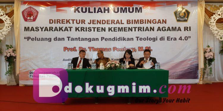 Kuliah Umum Fakultas Teologi UKIT di ABI, Kamis (13/2/2020).(dodokugmim/nandarisbone)