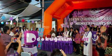 Ibadah syukur HUT ke-21 Wilayah Manado Sario, dilayani Wakil Ketua BPMS Bidang Hubungan Kerjasama Pdt. Ventje Talumepa, Sabtu (14/3/2020).(dodokugmim/nanda)